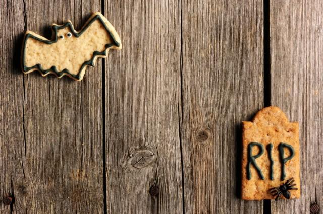 RIP Cookie, Cracker, Bat, Halloween food