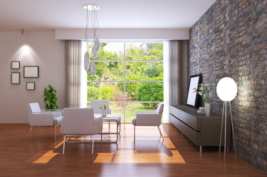 living room with window