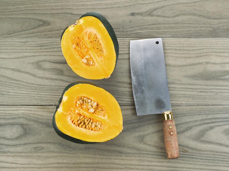 Acorn Squash cut in half