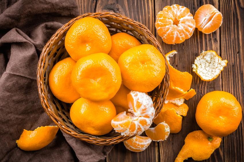 basket of tangerines