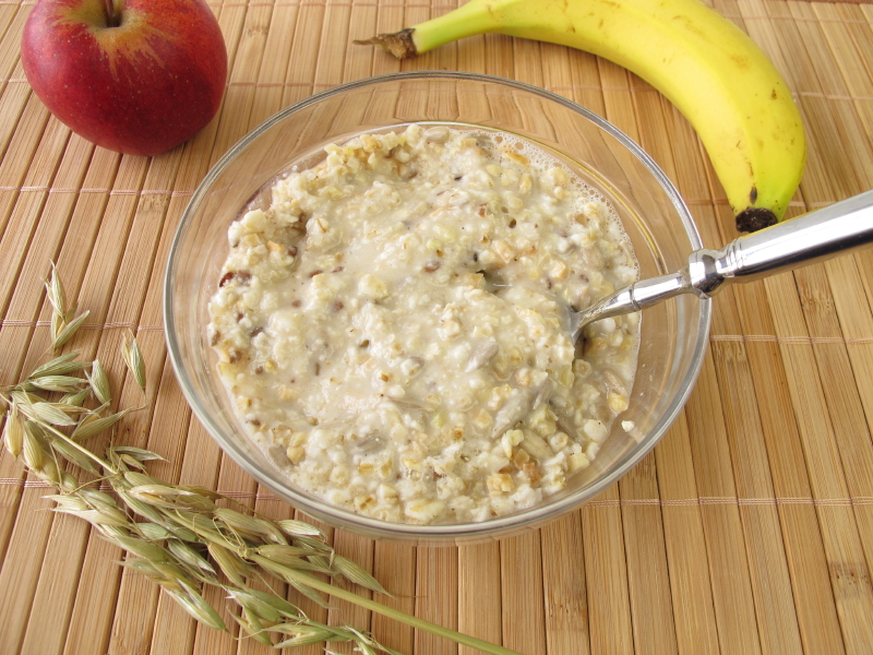 Buckwheat porridge, oatmeal