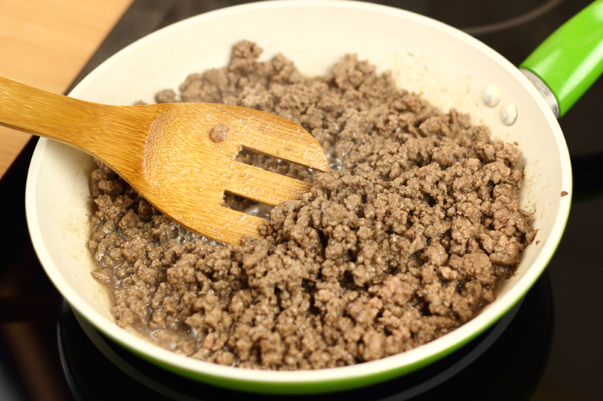 Ground Beef, skillet, frying pan, cooking