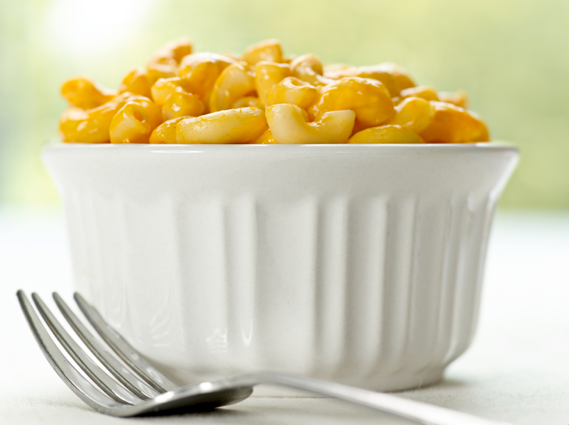 Macaroni and cheese, pasta, ramekin