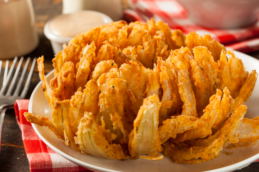blooming onion appetizer