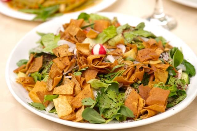 Fattoush Salad, pita
