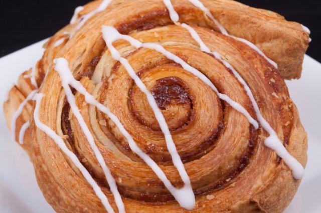Cinnamon danish, sticky bun, cinnamon roll