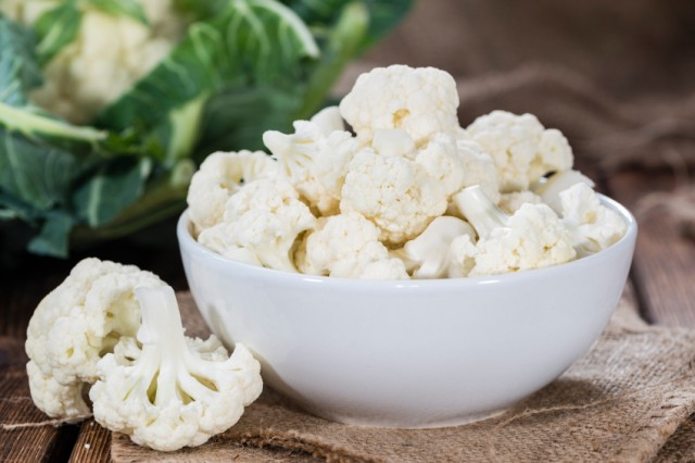 cauliflower pieces in a bowl