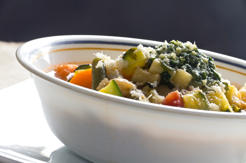 Vegetable Soup, pesto, pistou