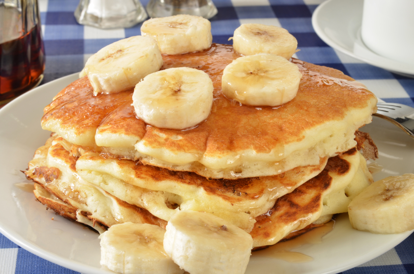 pancakes with fruit and nut butters