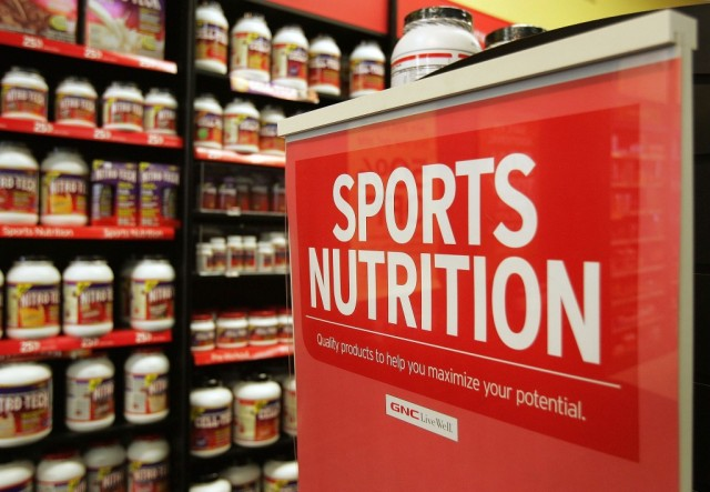 The sports nutrition aisle where supplements are sold