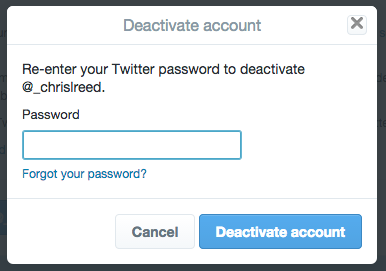 how to delete your twitter account on your phone
