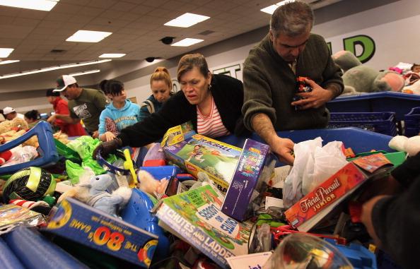 Black Friday shoppers jostle over merchandise