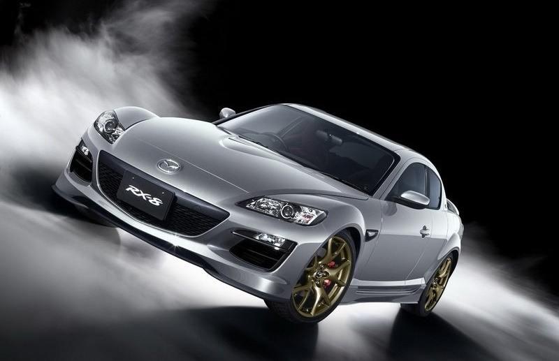 A silver 2011 Mazda RX 8 Spirit R