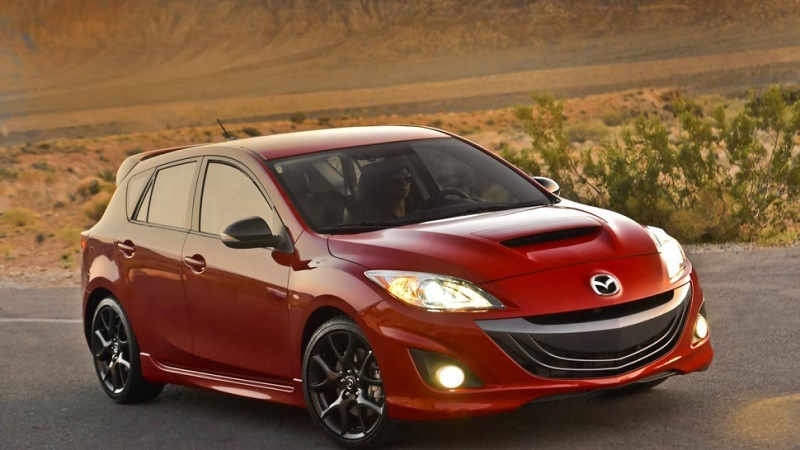 A Red Mazdaspeed 3 From 2013