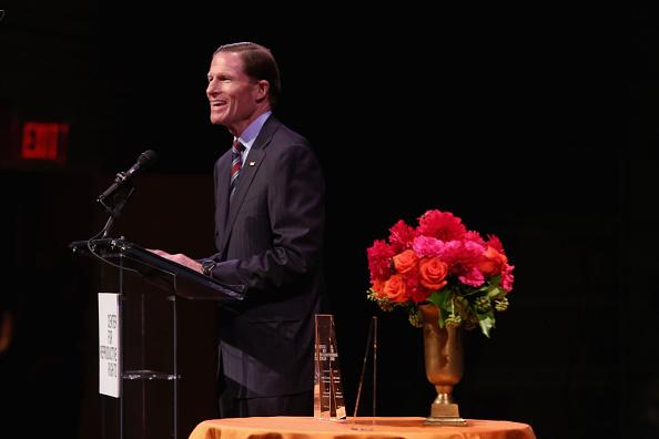 Richard Blumenthal gives a speech