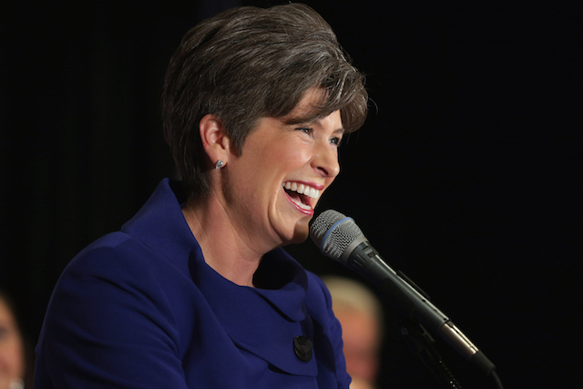 Republican Senate Candidate Joni Ernst Gathers With Supporters On Election Night