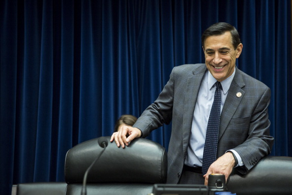 Darrell Issa takes his seat on a panel