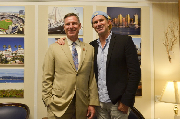 Scott Peters with Flea from The Red Hot Chili Peppers