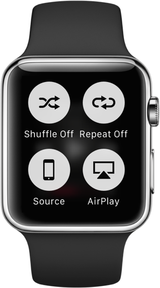 Apple Watch Force Touch context menu