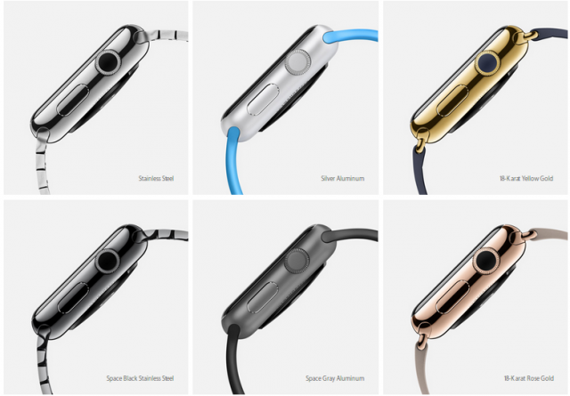 Apple Watch finishes