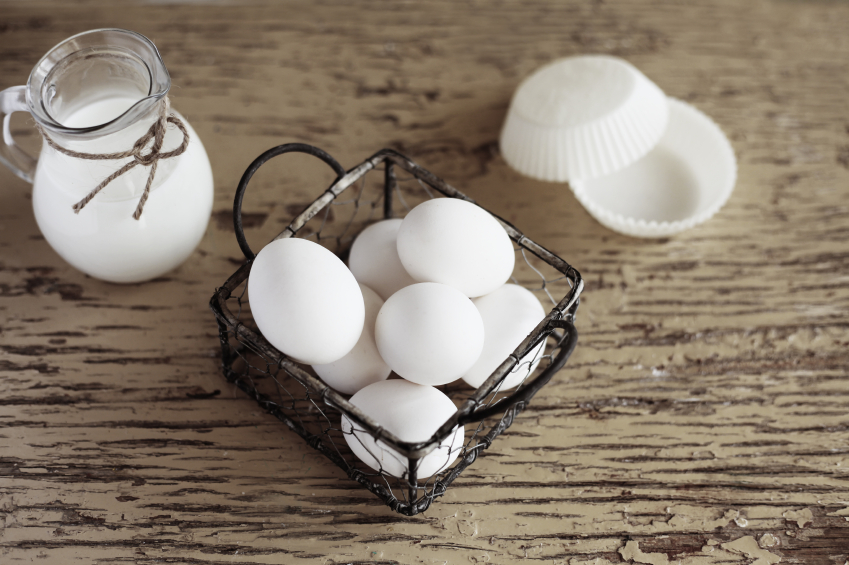 eggs in a wire holder