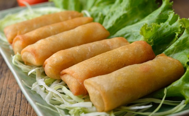 Delicious homemade spring rolls
