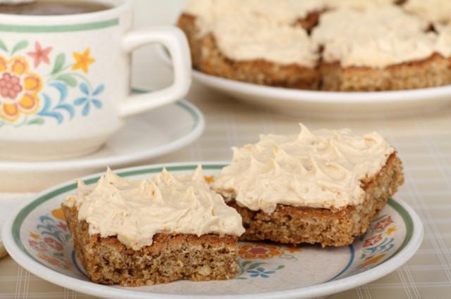 Blondie Peanut Butter Bar Dessert, frosted brownie