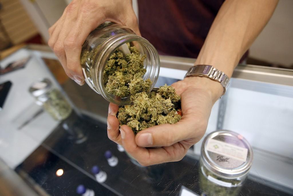 Cannabis at a dispensary