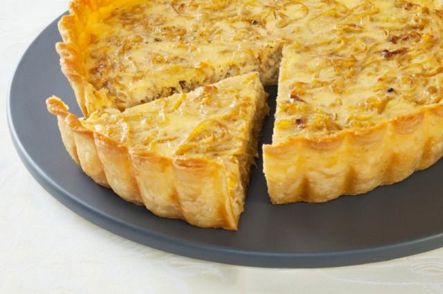 Onion Quiche, eggs, breakfast