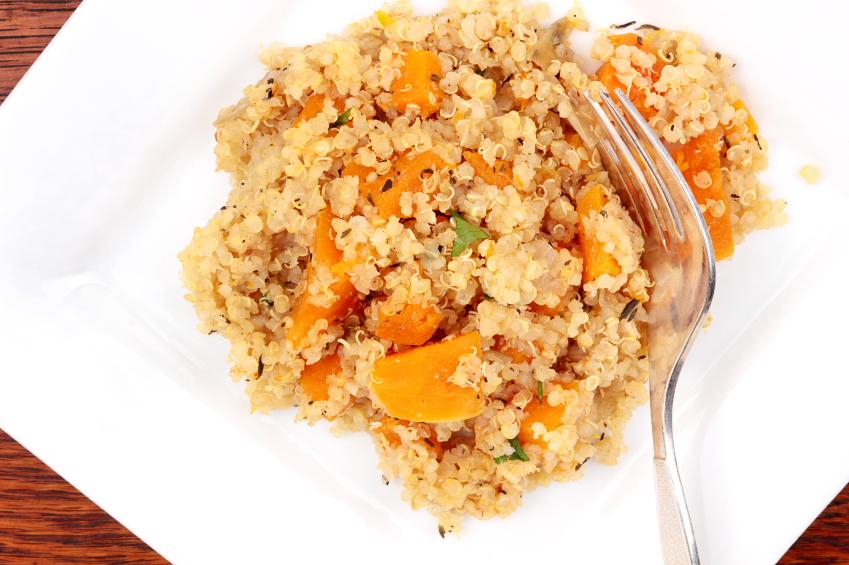 Quinoa, squash