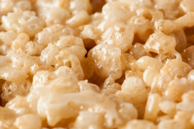 What does a rice krispie?