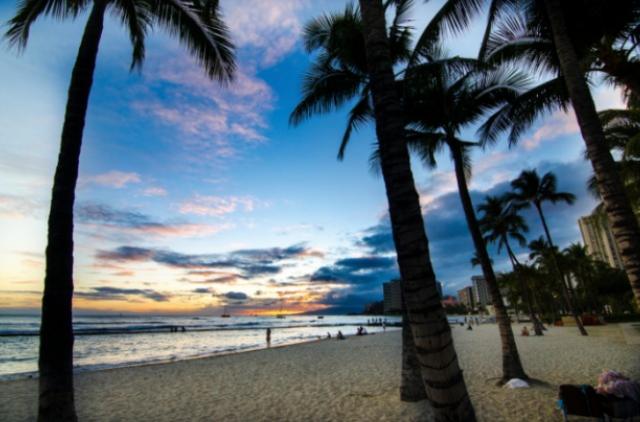 A Honolulu beach