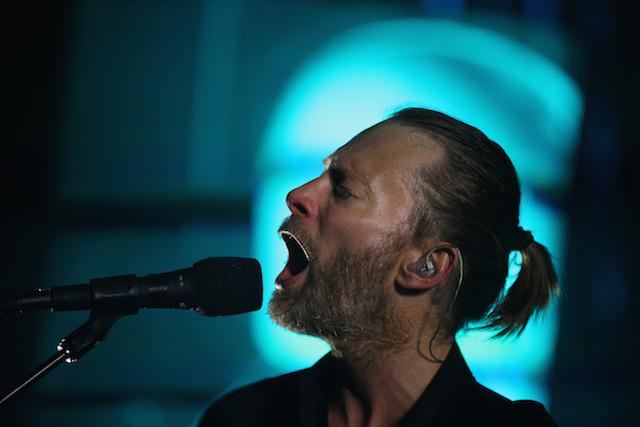 Thom Yorke of Radiohead singing