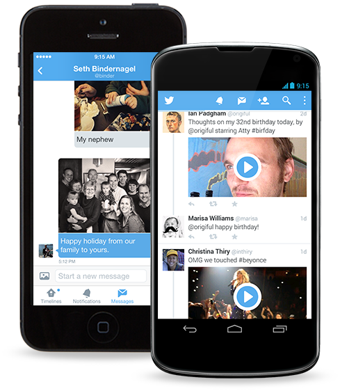 Twitter app for iOS and Android