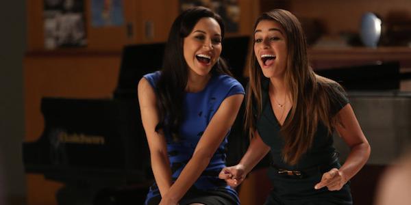 Naya Rivera and Lea Michele on Glee