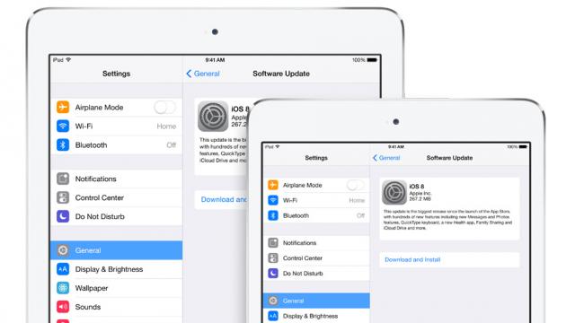 iOS 8 software update