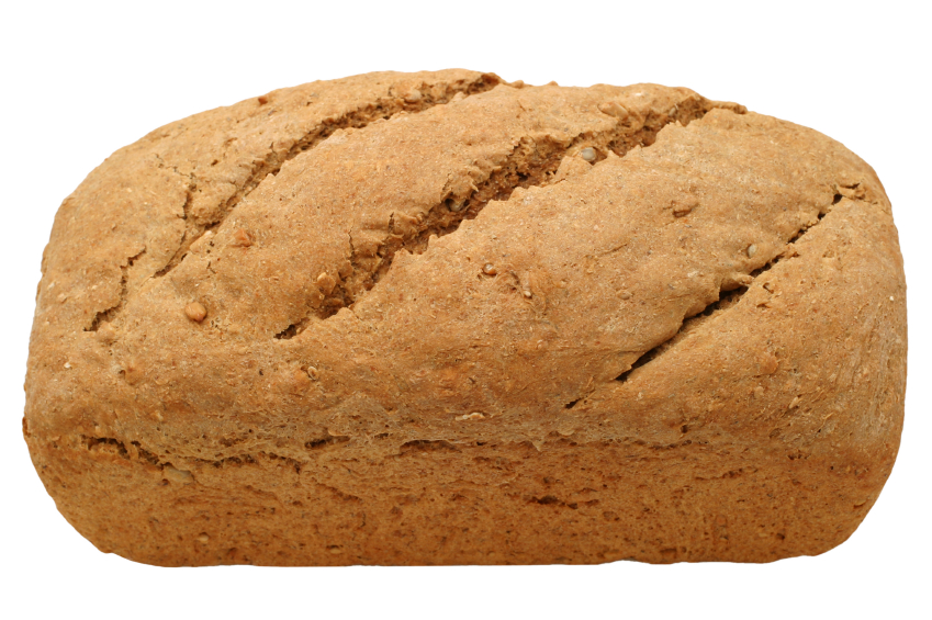 Loaf of whole grain bread