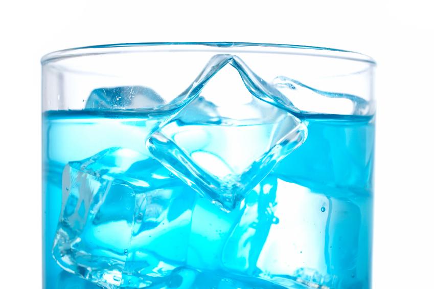 Blue cocktail, drink, beverage
