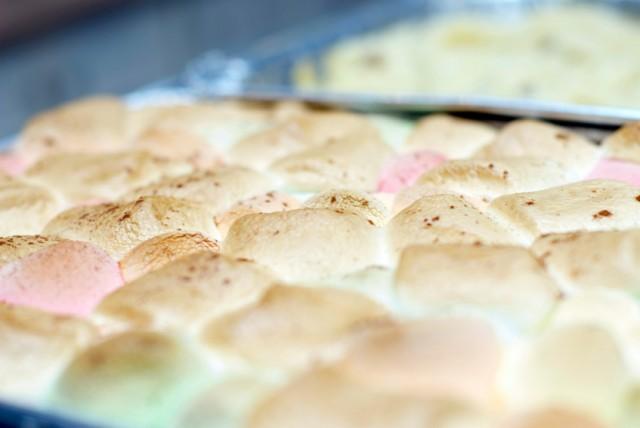 Toasted marshmallow topping, sweet potato pie/casserole