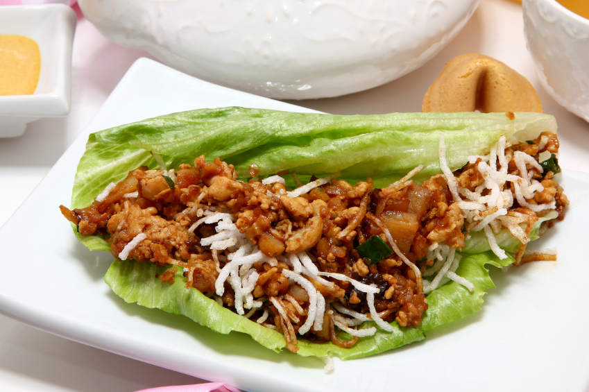 lettuce wrap on a dish