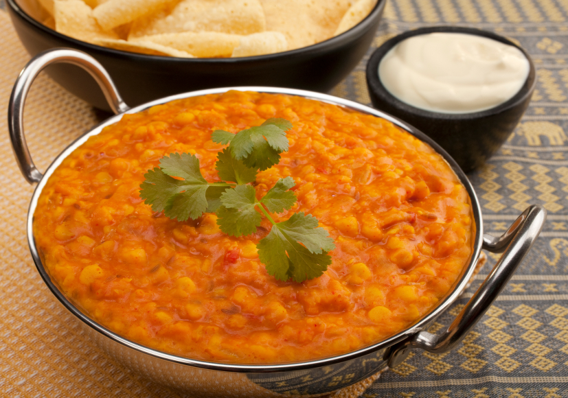 Red lentils and curry