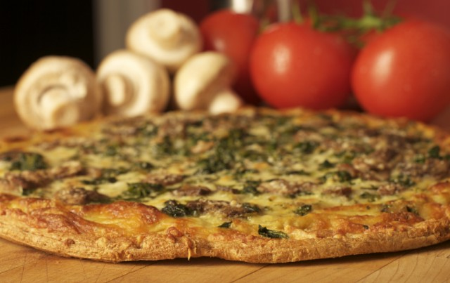 Spinach Cheese Pizza