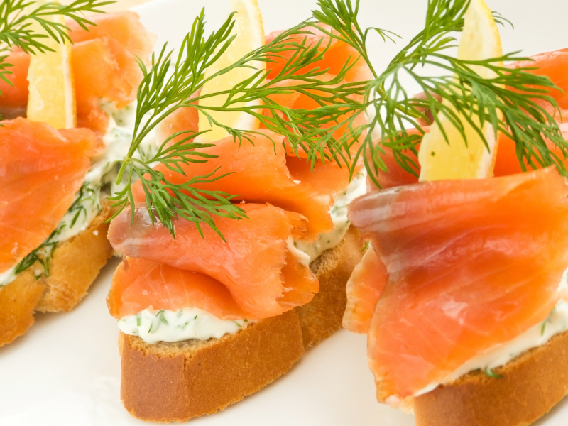 Salmon and dill cream cheese