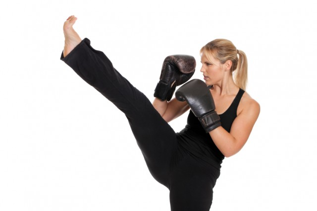 Exercise, fitness, kickboxing