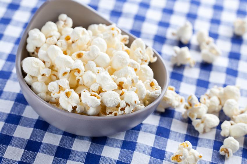 freshly popped popcorn