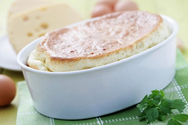 Three-Cheese Soufflé