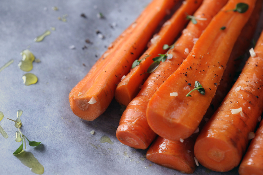 Molasses and ginger carrots