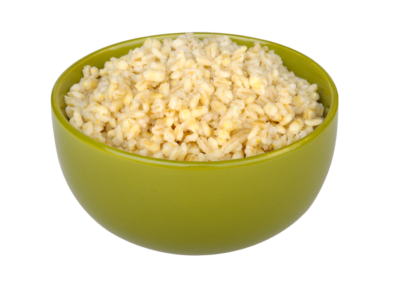 cooked pearl barley, whole grains