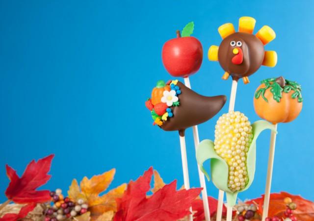 Turkey cake pops
