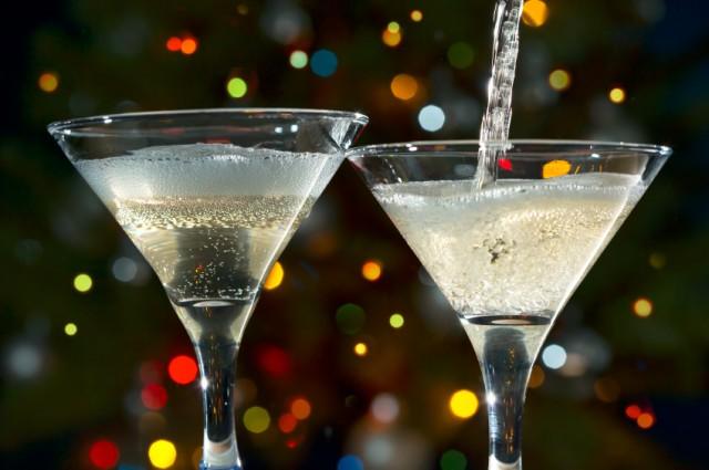 Champagne glasses, drinks, cocktails